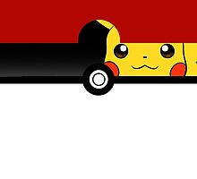 Pokeball Pikachu Inside  iPhone Case ,Casing 4 4s 5 5s 5c 6 6plus Case - Pokeball Pikachu Inside Samsung case s3 s4 s5 by procase