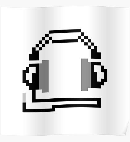 8-bit Headphones Poster