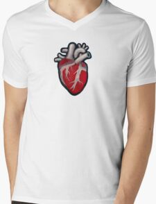 Human Heart Mens V-Neck T-Shirt