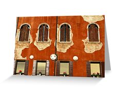 Aged Facade - Venice Greeting Card