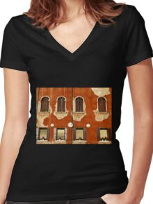 Aged Facade - Venice Women's Fitted V-Neck T-Shirt