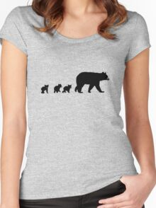 Mama Bear and her Cubs.  Women's Fitted Scoop T-Shirt
