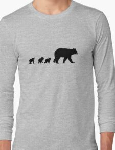 Mama Bear and her Cubs.  Long Sleeve T-Shirt