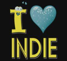 I LOVE INDIE MUSIC Kids Tee