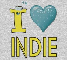I LOVE INDIE MUSIC Kids Tee