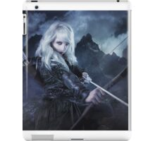 Elven warrior girl archeress iPad Case/Skin