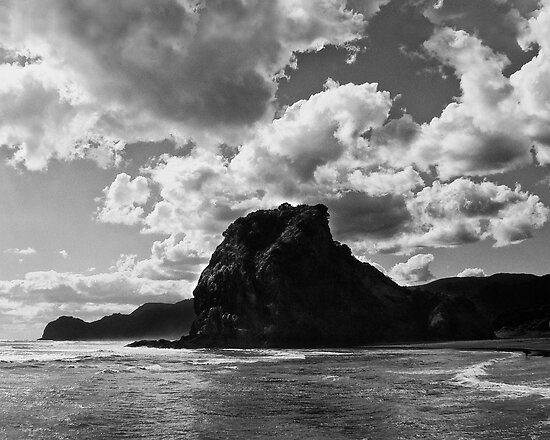 lion rock at piha redux by dennis william gaylor