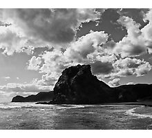 lion rock at piha redux Photographic Print
