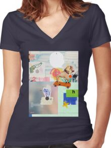 Destroying Culture Women's Fitted V-Neck T-Shirt