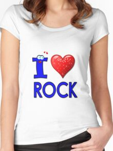 I LOVE ROCK Women's Fitted Scoop T-Shirt