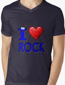 I LOVE ROCK Mens V-Neck T-Shirt