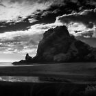 lion rock at piha by dennis william gaylor