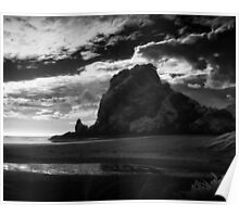 lion rock at piha Poster