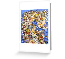 Blue water city Greeting Card