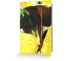 Woman with a Long Cigarette Holder Greeting Card