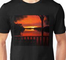 Murray River Sunset near Loxton, S.A. Unisex T-Shirt