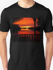 Murray River Sunset near Loxton, S.A. T-Shirt