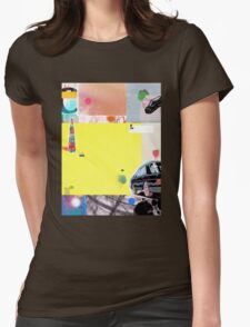 yellow fills Womens Fitted T-Shirt