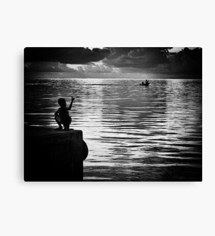 The Silent Greeting Canvas Print