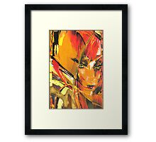 Red-Haired Beauty Framed Print