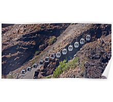 A cableway on Santorini . Greece. by Brown Sugar. Tribute to Michalis Tzouganakis - KPHTH OPLA !!!!! Yeah !! Views (123) Poster
