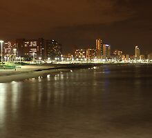 Durban beachfront by night by MarkySA