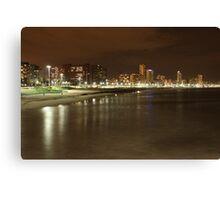 Durban beachfront by night Canvas Print