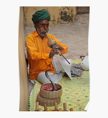 Snake charmer, Jaipur, India Poster