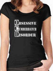 Obsessive Cumberbatch Disorder Sherlock Holmes Women's Fitted Scoop T-Shirt