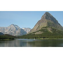 Many Glacier N.P. Mountains & Lake. Photographic Print