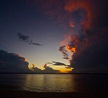 Storm cell - Banksia Beach by Kim Austin