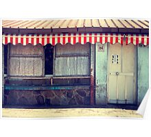 Red striped tent Poster