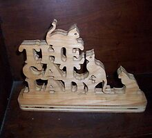 The Cat lady Wood display by FineCrafts