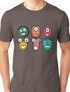 Funny monster characters faces Unisex T-Shirt