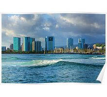 Honolulu Turquoise - Impressions of Hawaii Poster
