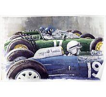Datch GP 1962 Lola BRM Lotus Poster