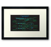 Enterprise 1701-B Schematic Framed Print