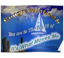 It's What Moves Me Banner top 10 winner Poster