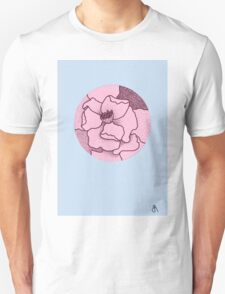 pink and blue peony T-Shirt