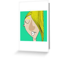 The sad blonde boy Greeting Card