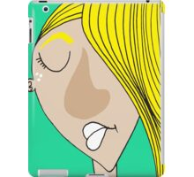 The sad blonde boy iPad Case/Skin