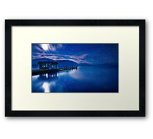 Jetty under the moon Framed Print