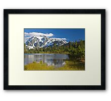 Mt. Shuksan, Picture Lake (North Cascades National Park) Framed Print
