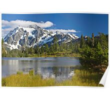 Mt. Shuksan, Picture Lake (North Cascades National Park) Poster
