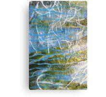 Primary Elements Blue Canvas Print