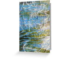 Primary Elements Blue Greeting Card