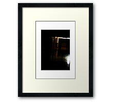 scotophobia Framed Print