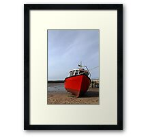 Red Boat at Staiths Framed Print
