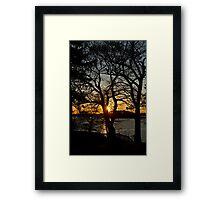 Sound Sunset Framed Print