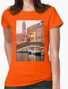 Canal scene Womens Fitted T-Shirt